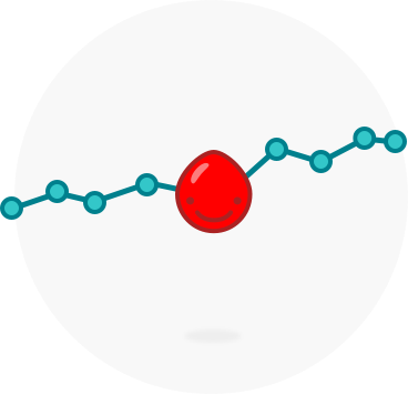 Blood-drop-graph-line